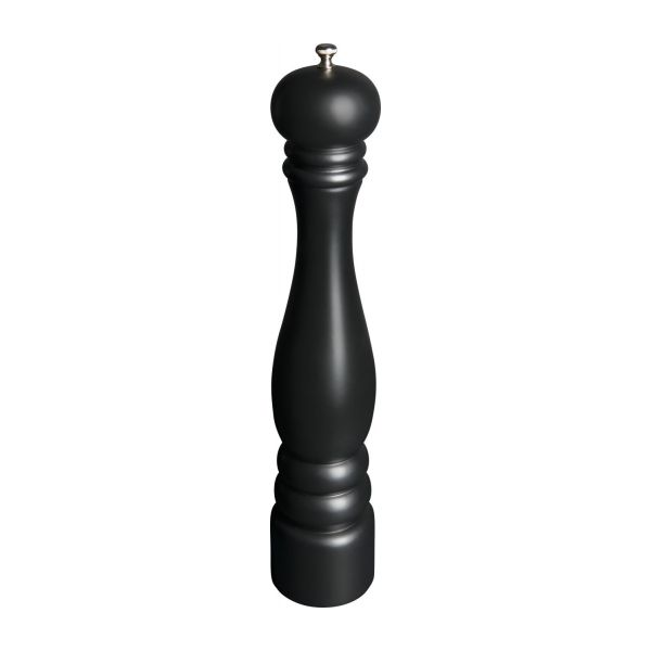 Pepper mill 42cm in hevea, black n°1