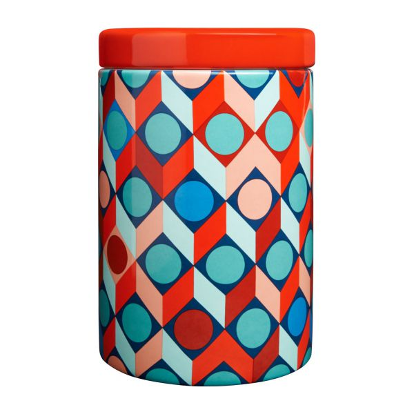 Box in earthenware 16cm with patterns n°3