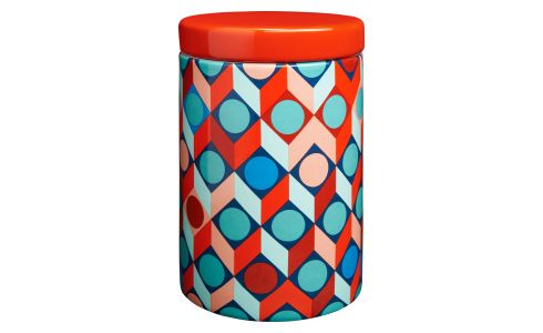 Box in earthenware 16cm with patterns