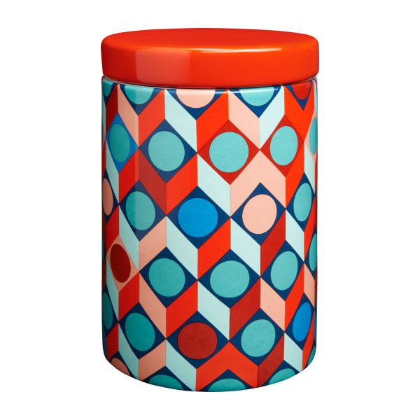 Box in earthenware 16cm with patterns n°1