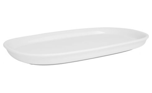 Serving dish in porcelain, white 31cm