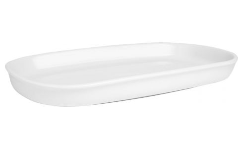 Serving dish in porcelain, white 26cm