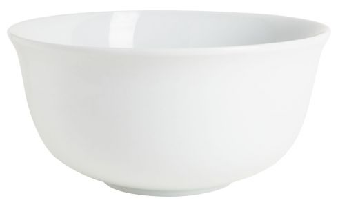 Mixing bowl in porcelain, white 23cm