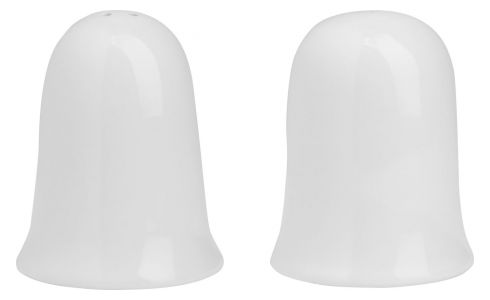 Salt ou pepper cellar in porcelain, white