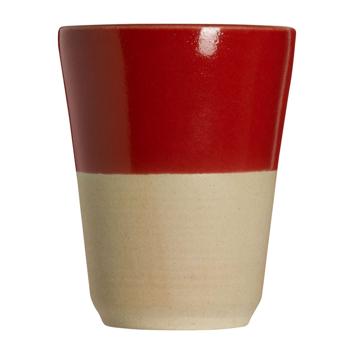 Small tumbler made in sandstone, natural and red n°2