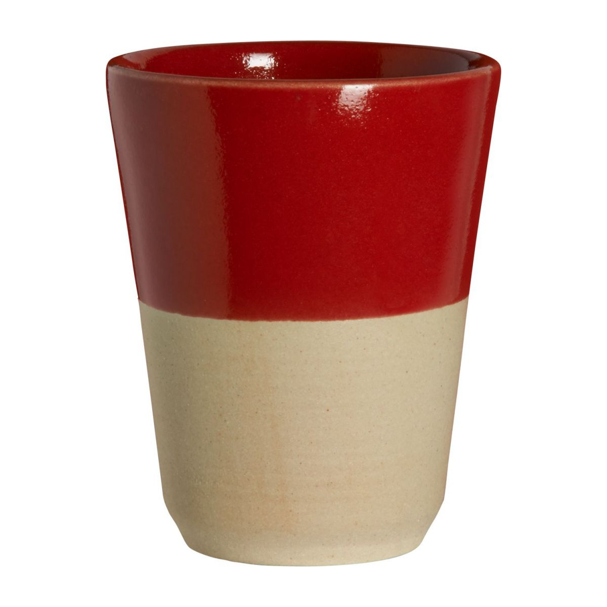 Small tumbler made in sandstone, natural and red n°1