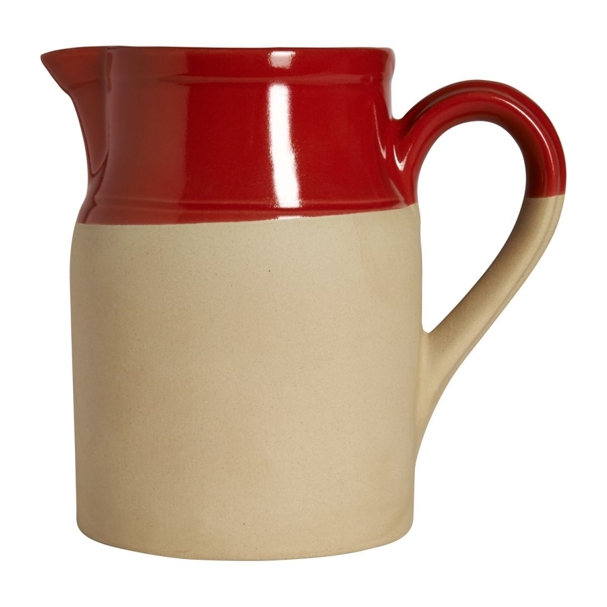 Pitcher made in sandstone, natural and red n°3