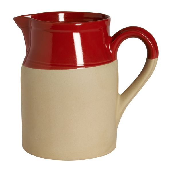 Pitcher made in sandstone, natural and red n°2