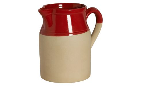 Pitcher made in sandstone, natural and red