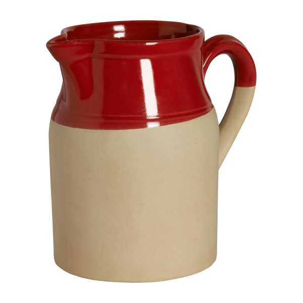 Pitcher made in sandstone, natural and red n°1