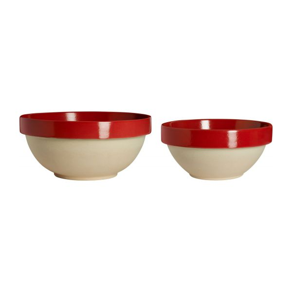 Preparation bowl made in sandstone, natural and red n°3
