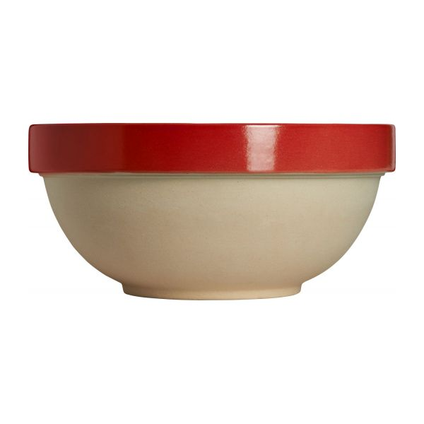 Preparation bowl made in sandstone, natural and red n°2