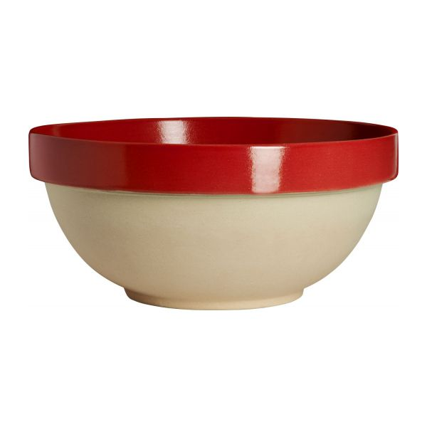 Preparation bowl made in sandstone, natural and red n°1
