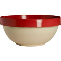 Preparation bowl made in sandstone, natural and red