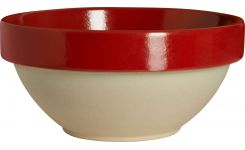 Preparation bowl made of sandstone, red and natural, 2.1L