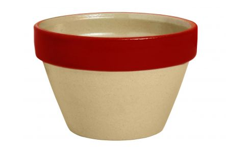 Ramekin made in sandstone, natural and red