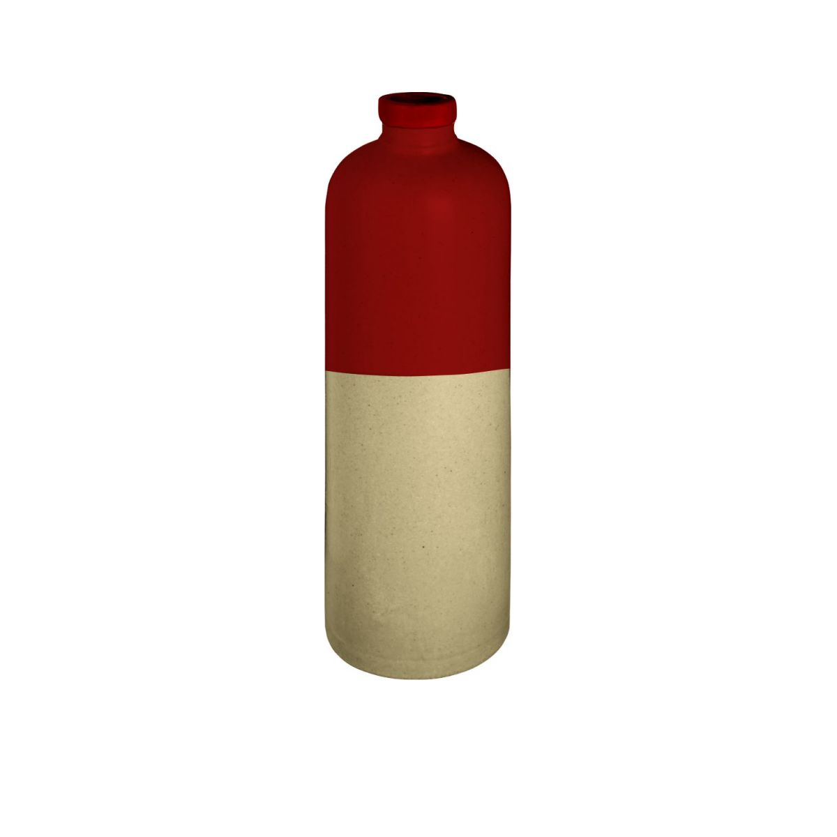 Oil cruet made in sandstone, natural and red n°1
