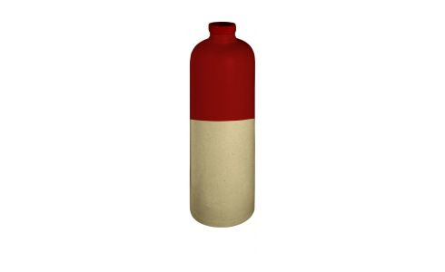 Oil cruet made in sandstone, natural and red