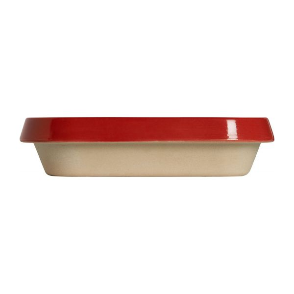 Oven plate made of sandstone, red and naturel, 1.8L n°4