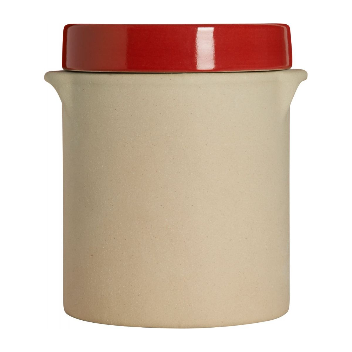 Box made in sandstone - 1L, natural and red n°4