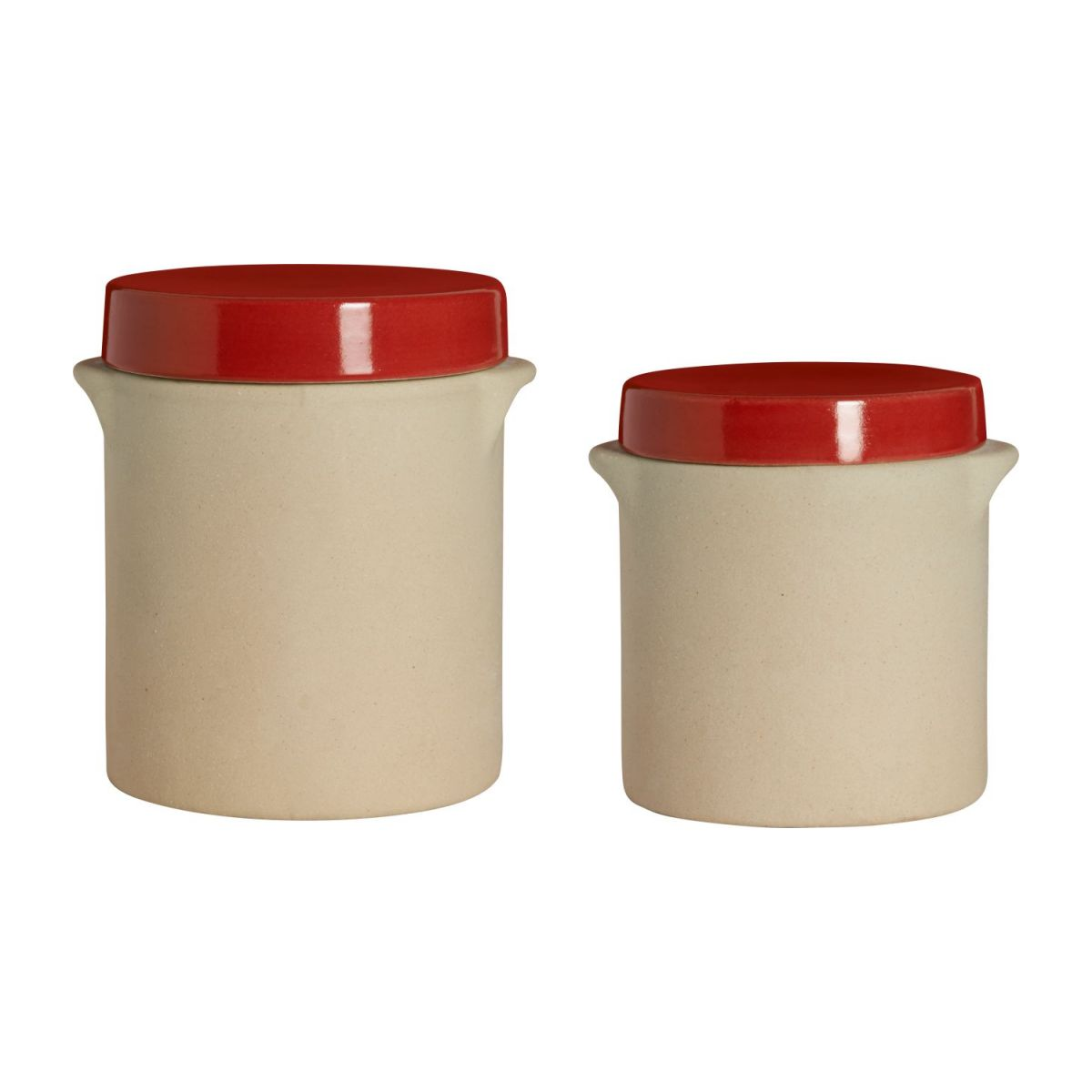 Box made in sandstone - 0,5L, natural and red n°9