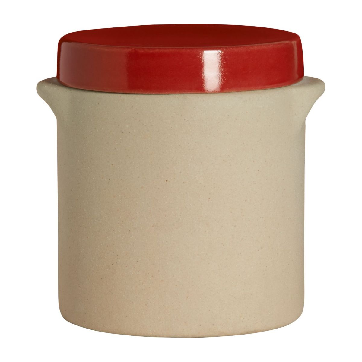 Box made in sandstone - 0,5L, natural and red n°3