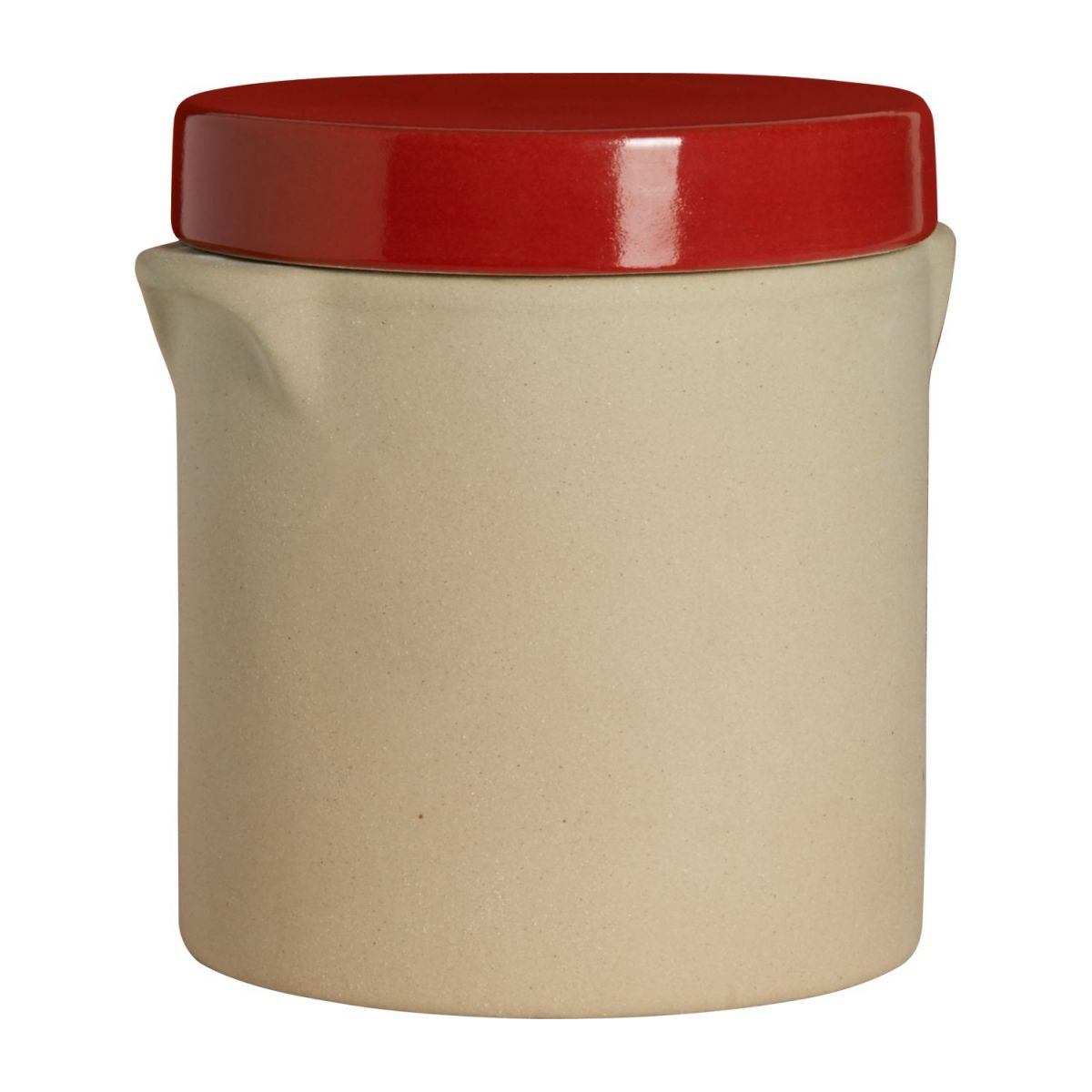 Box made in sandstone - 0,5L, natural and red n°1