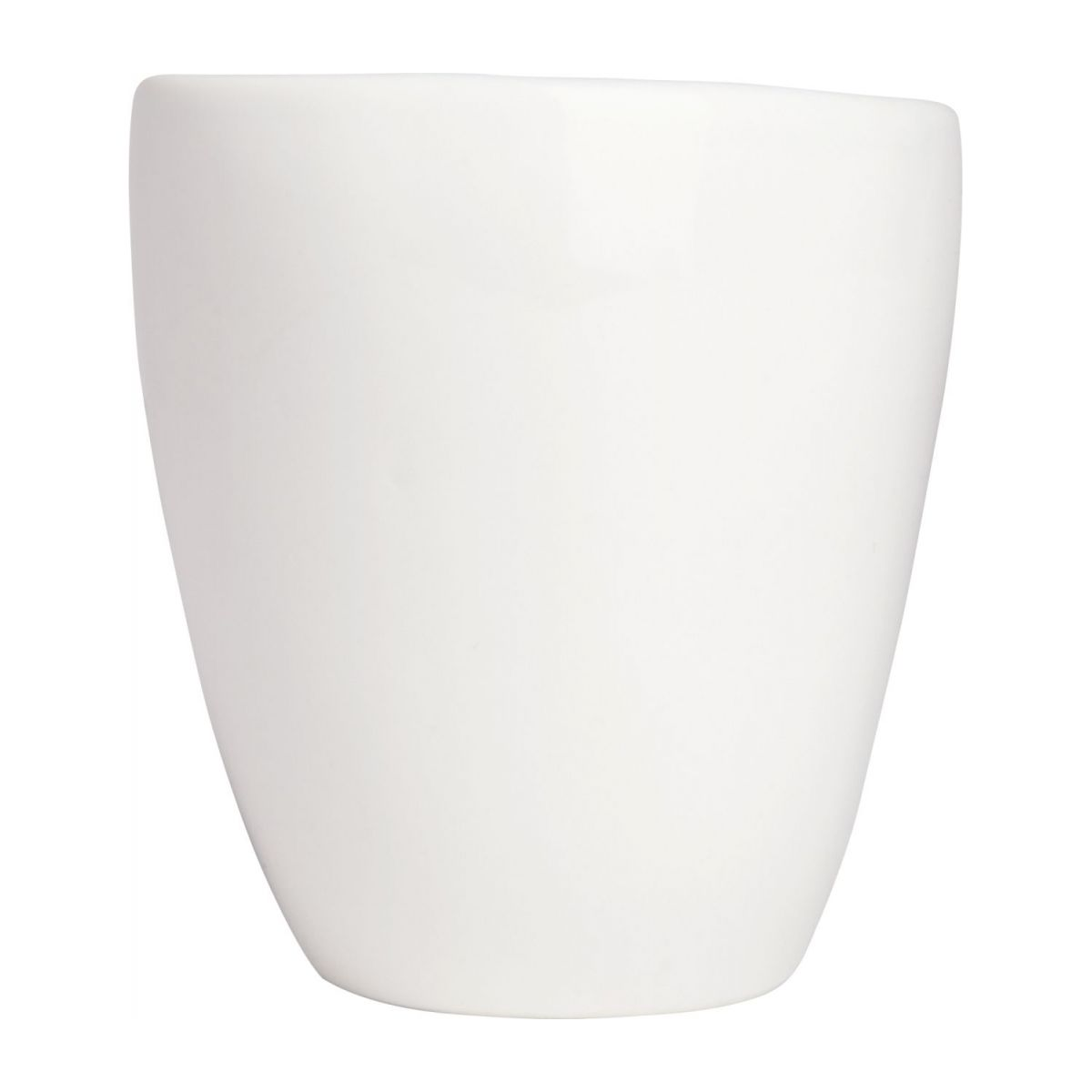 Coffee cup in porcelain, white n°2