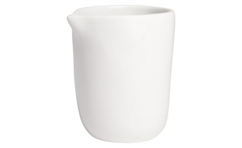 Milk can in porcelain, white