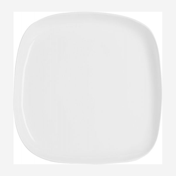 Serving dish in porcelain 28cm, white