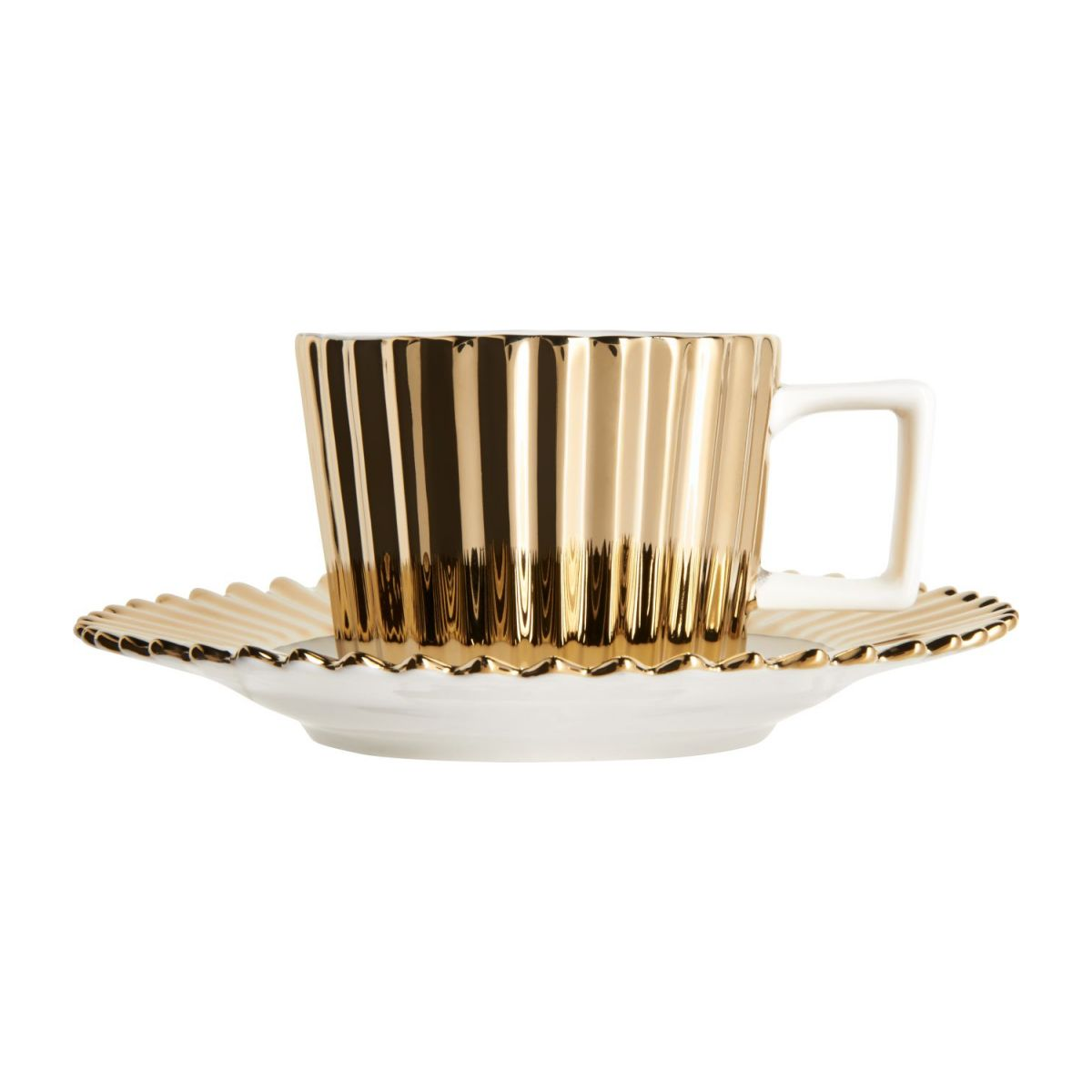 Coffee cup in porcelain, gold n°3