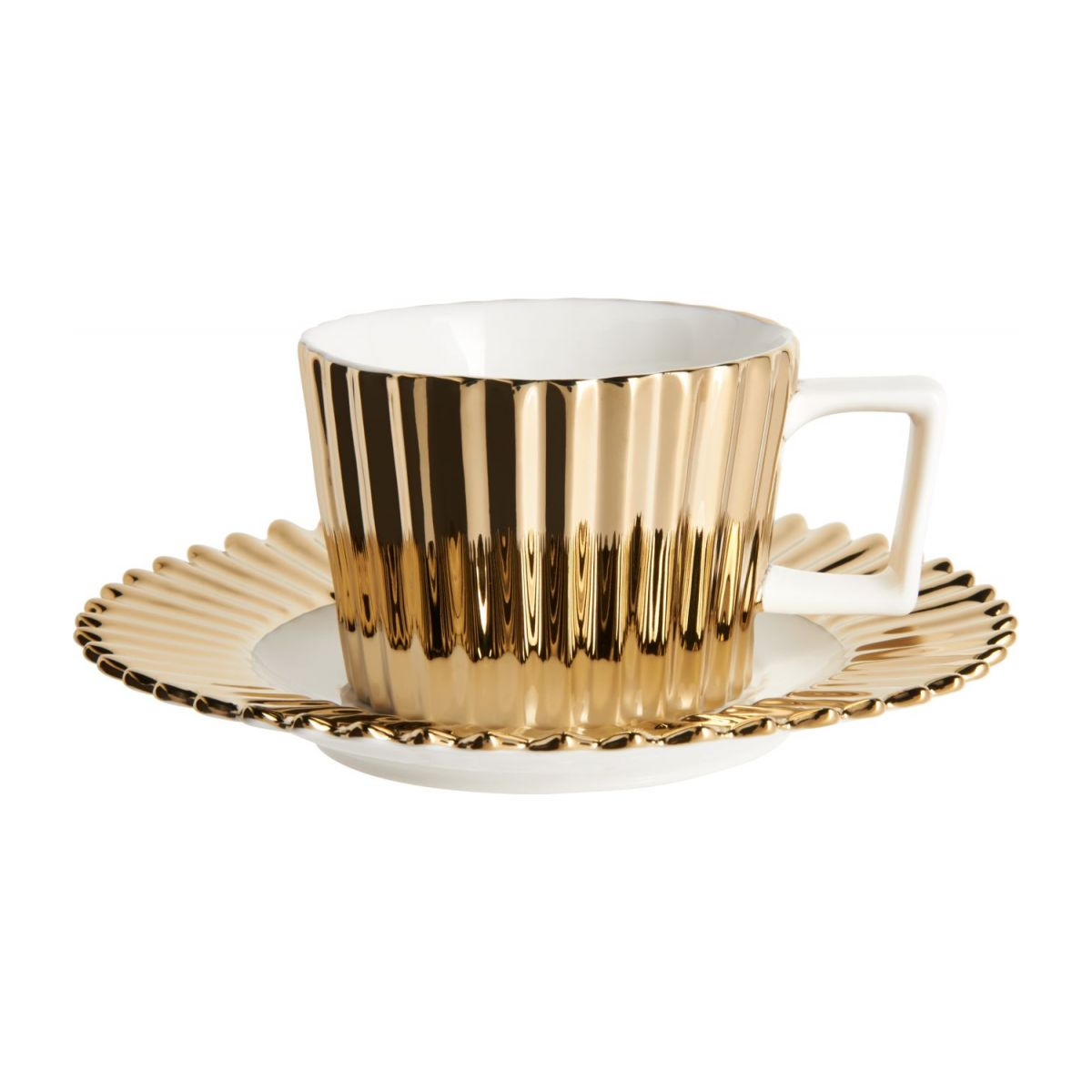 Coffee cup in porcelain, gold n°2