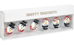 Set de 6 magnets bonhomme de neige