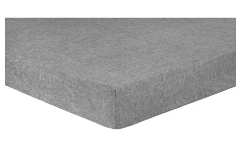 Fitted sheet 140x200, grey