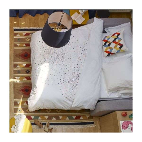 Duvet cover 240x200, white with patterns n°5