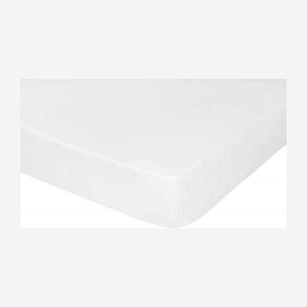 Fitted sheet 90x200, white