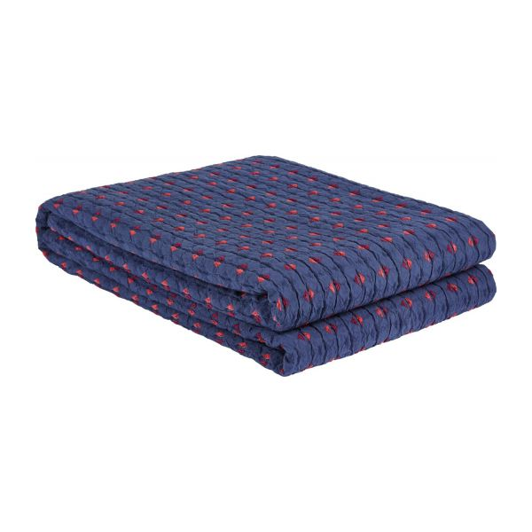 habitat couvre lit Ibani   Bed cover 230x260, blue and red   Habitat habitat couvre lit