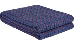 Bed cover 230x260, blue and red