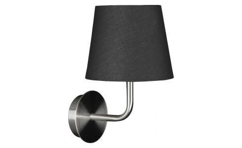 Wall lamp made of brushed metal