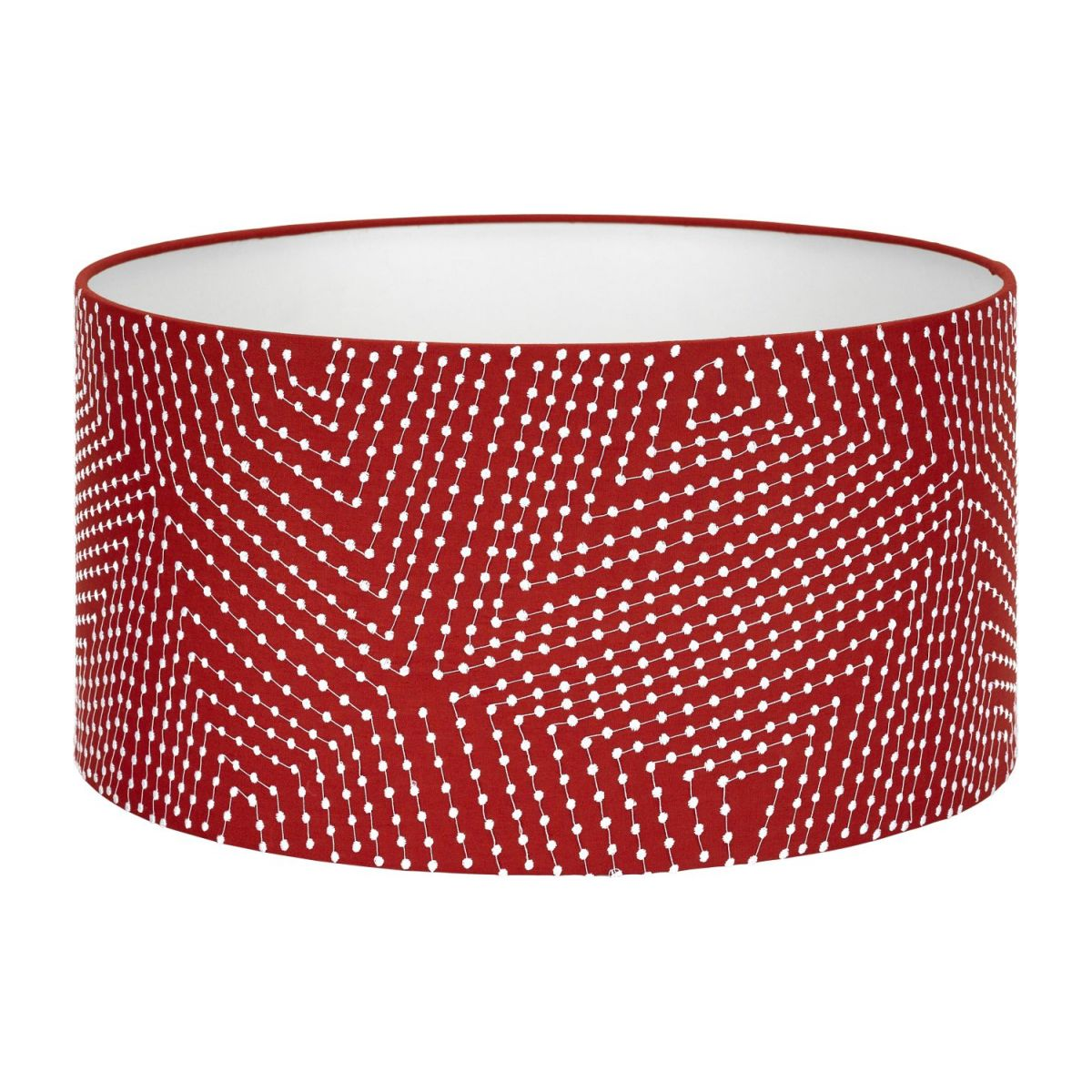 Lampshade 35cm, red with white patterns n°1