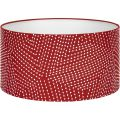 Lampshade 35cm, red with white patterns