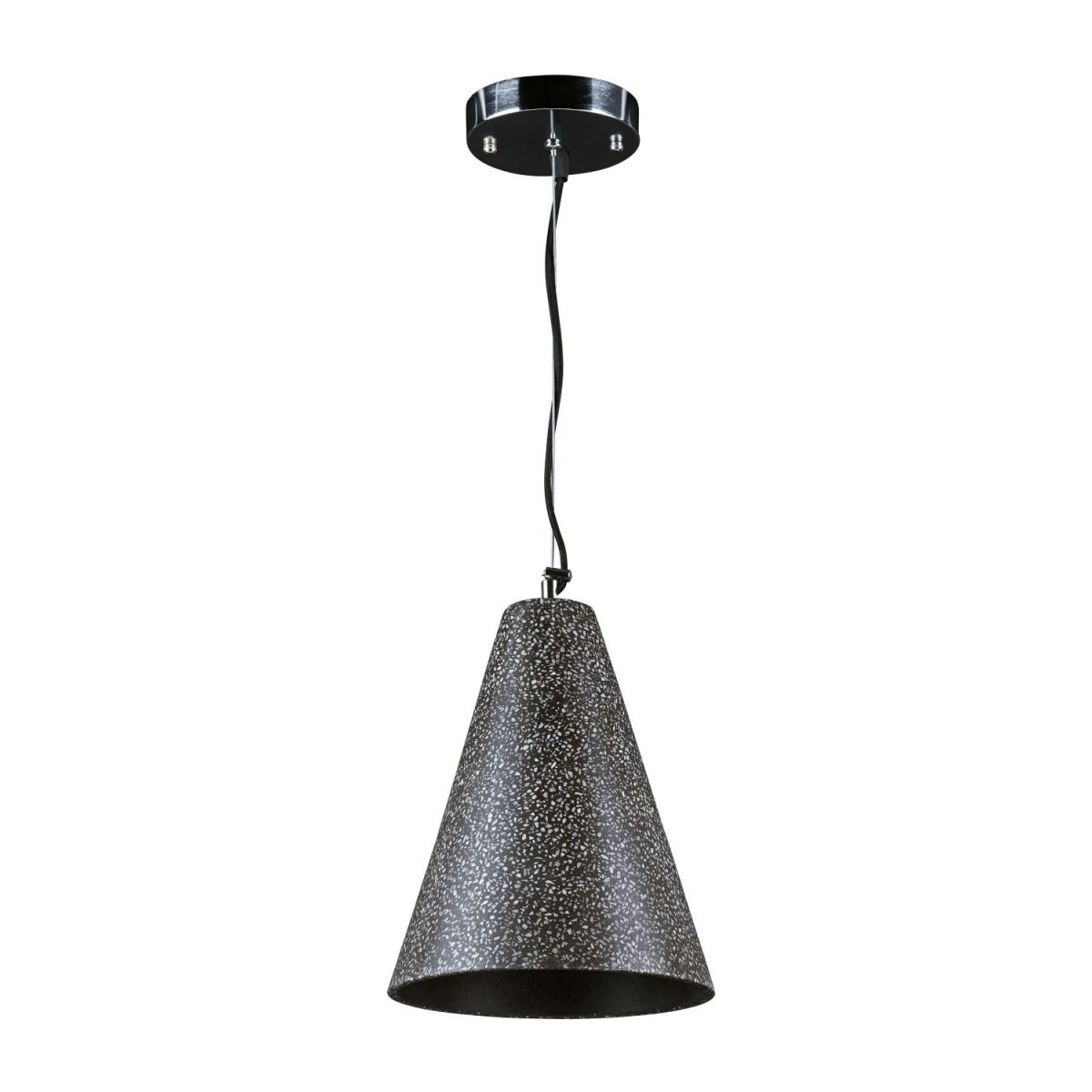 Ceiling lamp made of terrazzo, anthracite n°1