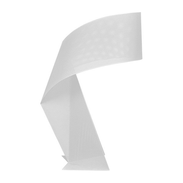 Lampe de table 50cm en métal blanc perforé n°4