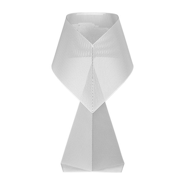 Lampe de table 50cm en métal blanc perforé n°3