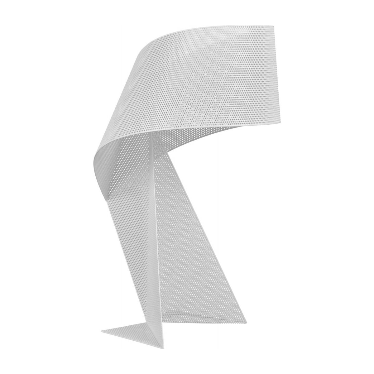 Lampe de table en métal perforé - Blanc - 50 cm n°1