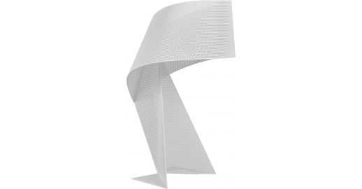 En Ribbon Table Blanc Lampe De 50cm Métal Perforé n0wO8vNm