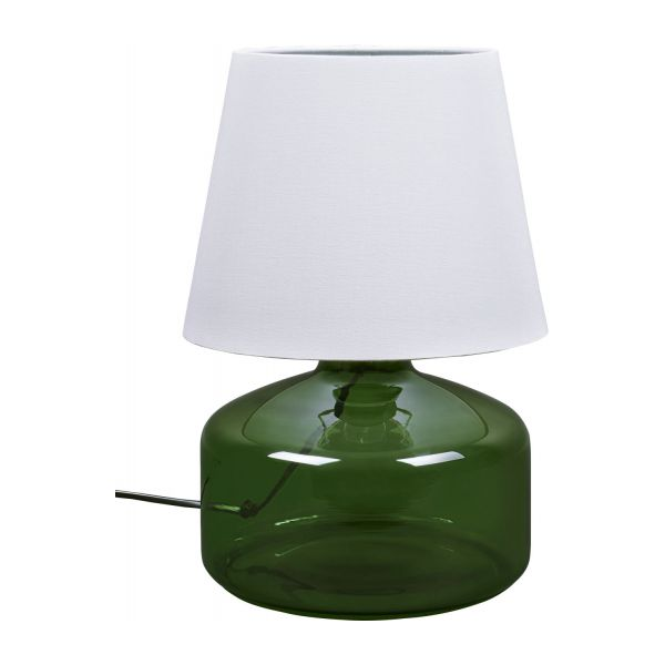 Ignace green glass table lamp