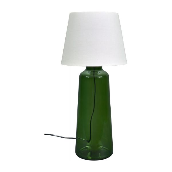 ignace pied de lampe poser en verre 42 cm vert habitat. Black Bedroom Furniture Sets. Home Design Ideas