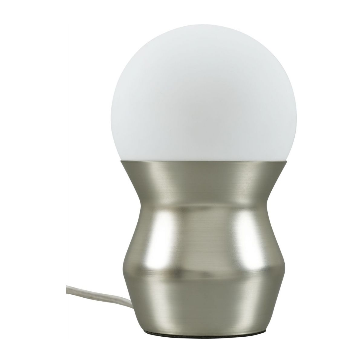 Mini table lamp, silver