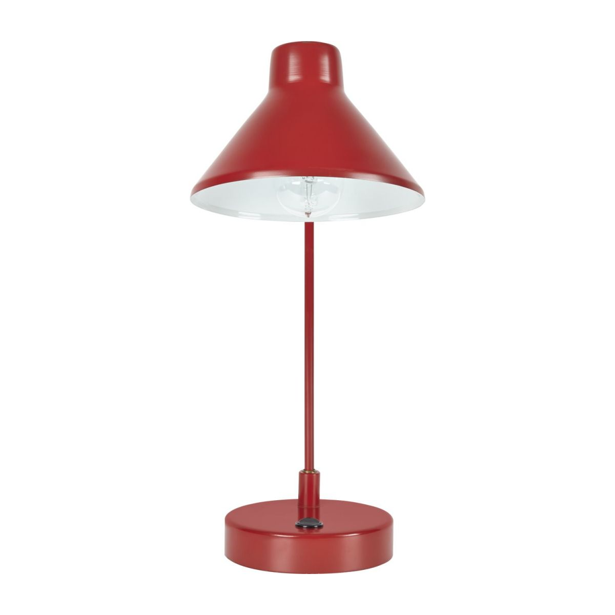 Steel desk lamp, red n°2